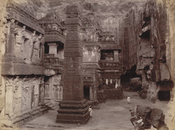 Kailas cave, right side [Ellora]